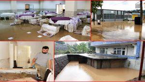 Kdz. Ereğli'de 10'larca iş yeri, ev ve araç sular altında kaldı