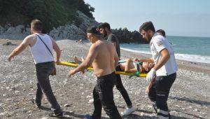 12 yaşındaki çocuk boğulma tehlikesi geçirdi