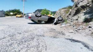 Mıcır kazaya neden oldu: 4 yaralı