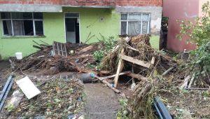 Selden zarar gören Güneşli köyü yardım bekliyor