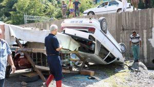 Hayatlarını garaj kurtardı: 2 yaralı