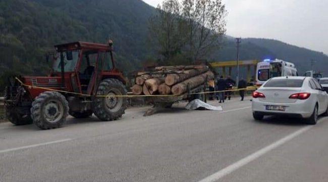 -Traktörden çıkan römork devrildi: 1 ölü