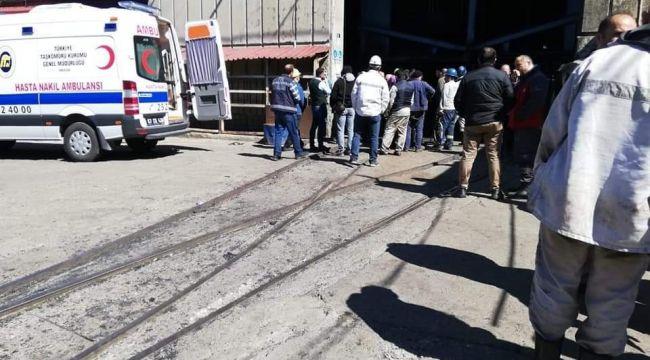 - Üzerine kömür parçası düşen maden işçisi yaralandı