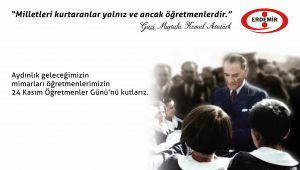 '24 KASIM ÖĞRETMEN GÜNÜ KUTLU OLSUN'