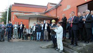 GMİS yönetim kurulu Armutçuk'ta madenciyi ziyaret etti