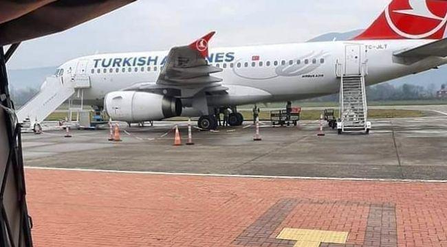 - THY uçağının lastiğindeki arıza uçuşu iptal ettirdi