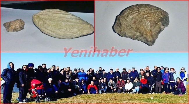 Doğa Yürüyüşüne gittiler, fosilli taşla döndüler