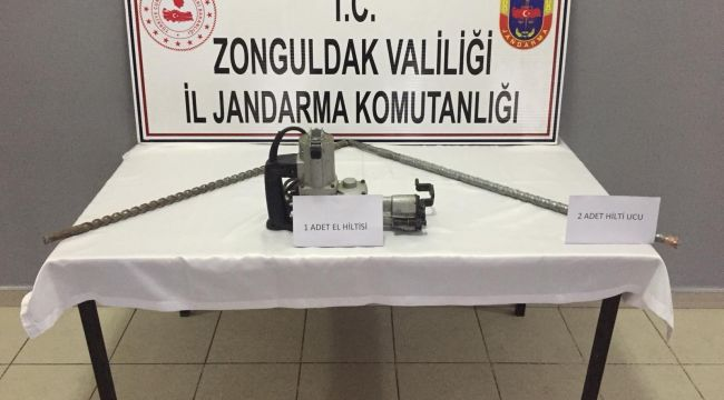 Kaçak kazı yapan 5 kişi gözaltına alındı