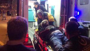 - Refüje çarpan motosikletli ağır yaralandı