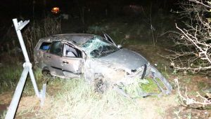 Refüjü aşan otomobil köprüden uçtu: 3 yaralı