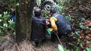 - Traktör 300 metre uçuruma yuvarlandı: 1 ölü