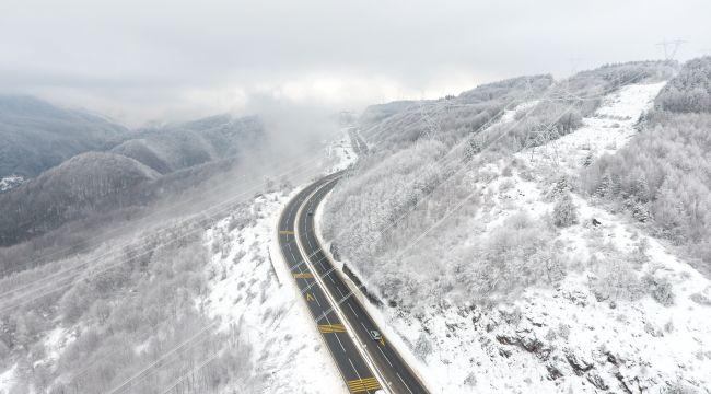 - Bolu Dağı kar yağışı sonrası havadan görüntülendi