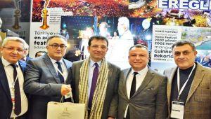 İmamoğlu, Ereğli Belediyesinin standını ziyaret etti