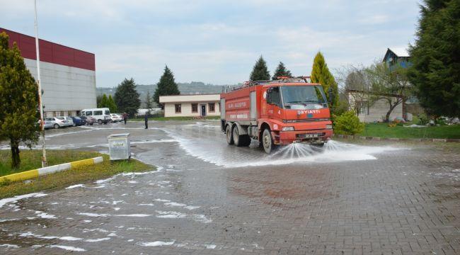 - Alaplı'da fabrikalar dezenfekte edildi