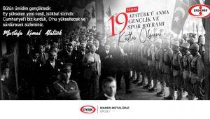 ERDEMİR'DEN 19 MAYIS MESAJI...