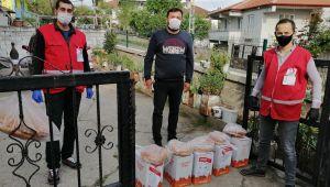 - Kızılay'dan 500 aileye gıda kolisi yardımı
