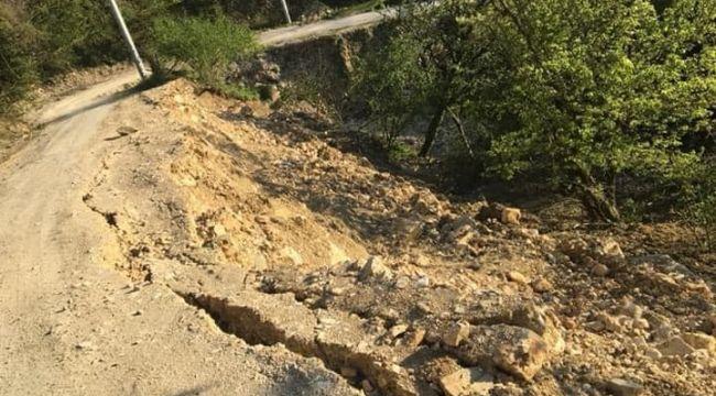 Selin vurduğu Esmahanım köyünde heyelan