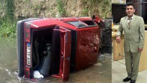 Dereye uçan otomobilin sürücüsü hayatını kaybetti