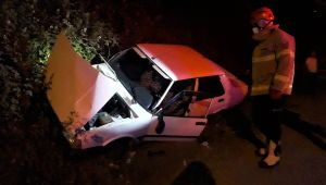 - Otomobil yoldan çıkıp kanala girdi: 1 yaralı