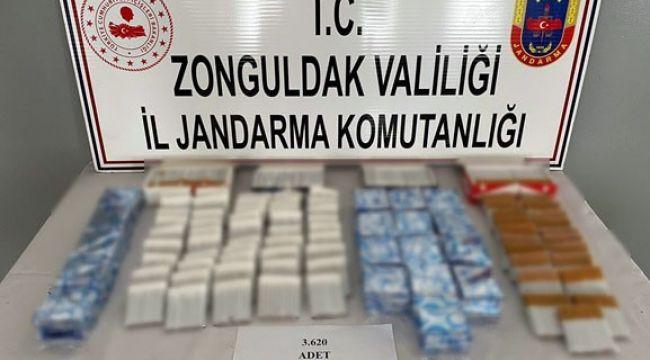 3 bin 620 adet tütün doldurulmuş makaron ele geçirildi