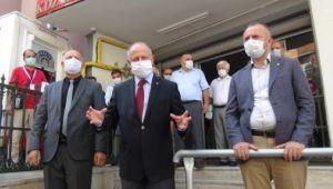 İşyerleri denetlendi, maske dağıtıldı