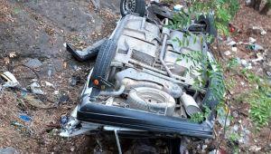 - Otomobil şarampole yuvarlandı: 1 ölü