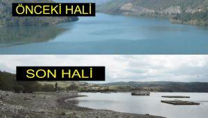 Kuraklık barajı bu hale getirdi