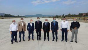 -ZonguldakHavalimani pist çalışmaları yerinde incelendi