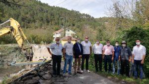 Çiğdemli Köyü'ne güvenli köprü yapılacak