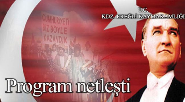 PROĞRAM BELLİ OLDU...