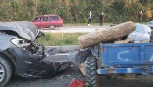 - Otomobil patpata çarptı: 2 yaralı