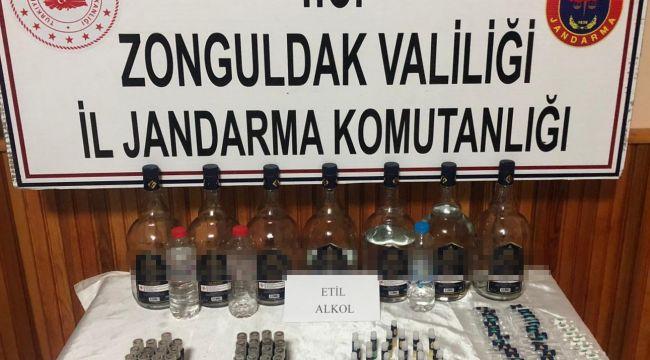 -Zonguldak'ta izinsiz etil alkol satan şüpheli gözaltında