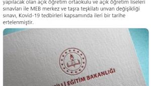 AÇIK ÖĞRETİM SINAVLARI ERTELENDİ...