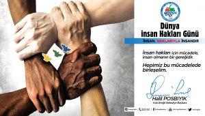 - Başkan Posbıyık'tan İnsan Hakları Günü Mesajı