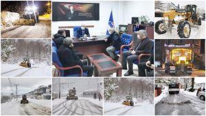 Kar ve buzla mücadele 4 koldan sürüyor (Video)