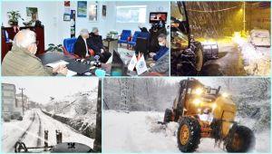 Karla mücadele 24 saattir sürüyor (Videolu)