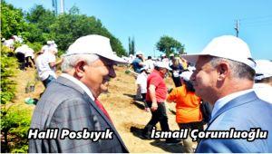 Başkan Posbıyık'tan, Kaymakam Çorumluoğlu'na destek (video)