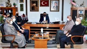 Bozkurt ve yönetiminden, yeni başkan Yılmaz'a ziyaret