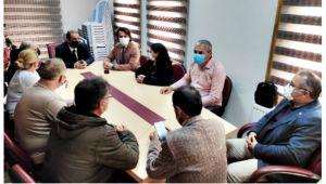 CHP İlçe Yönetiminden, EGD'ye ziyaret...