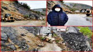 Ereğli-Zonguldak yolunda büyük heyelan