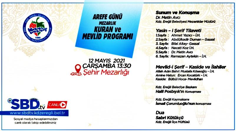 Mevlid programı SBD tv canlı yayınlanacak