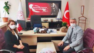Milli Eğitim Müdürü Ciğer, Kaymakam Yılmaz'ı ağırladı