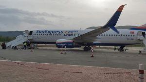 -ZonguldakHavaalanı'nın ilk yolcu uçağı Almanya'ya uçtu