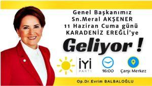 Akşener'in Zonguldak programı... Ereğli'ye de gelecek