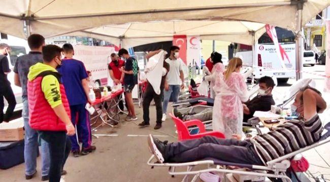 Kan bağışına yoğun ilgi