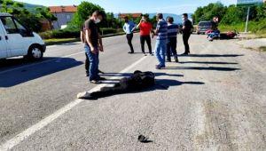 Motosikletiyle kaza yaptı: 2 ağır yaralı