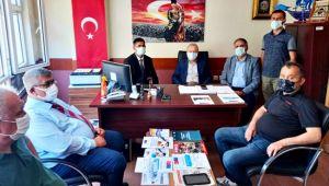 Vekil Uçar ve Başkan Bozkurt'tan Romanlar Derneği'ne ziyaret