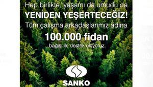 100 bin fidan bağışı