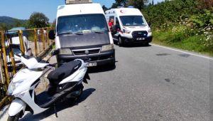 Alaplı'da motor kazası