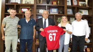 Şampiyon Yeniçeri'den Başkan Posbıyık'a ziyaret...